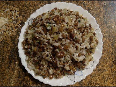 Видео рецепт: Маджадра Чечевица с рисом