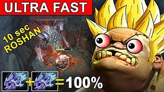 ULTRA FAST ATTACK SPEED 2x MOONSHARD PUDGE DOTA 2 PATCH 7.14 NEW META GAMEPLAY #92 (CARRY PUDGE)