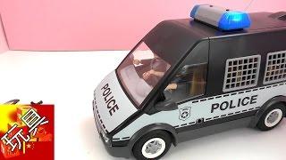 Playmobil  摩比游戏  警察  警车  囚犯 运送车 套装 玩具组  组装  展示