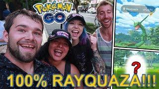 100% RAYQUAZA CAUGHT! NEW SHINY CAUGHT IN TOKYO!!! (Pokemon GO)