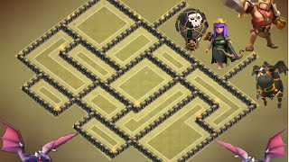 Clash of Clans - Th9 war Base 2015 Anti 2 Star,2 air sweeper.Town hall 9 anti lava+ balloon + replay