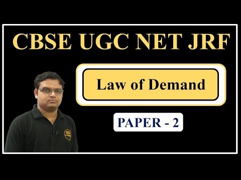 UGC NET JRF July 2018 || Economics, Commerce, Management Paper 2 - Law of Demand