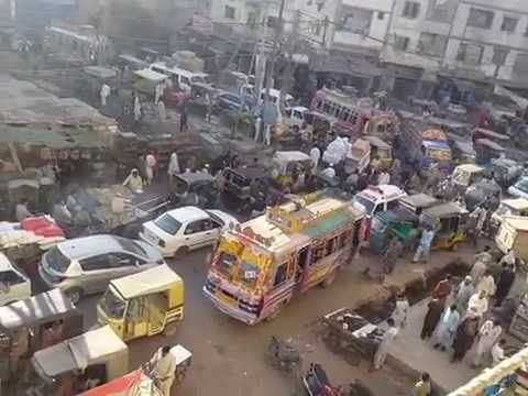 Trafic Jam at Lea Market Karachi