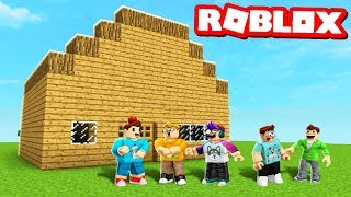 MINECRAFT HOUSE IN ROBLOX! Minecraft in Roblox Simulator Build Off! (Roblox Roleplay)
