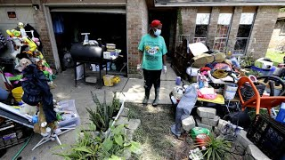 Some residents return home while others see more flooding a week after Harvey