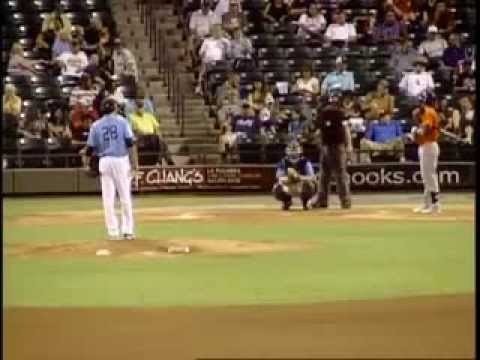 Batter Strikes Out On One Pitch | Minor League Baseball Player Vinnie Catricala