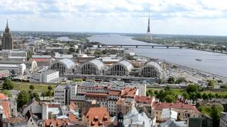 アキーラさん堪能!ラトヴィア・リガの絶景7,The city view of Riga,Latvia