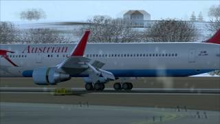 Austrian Boeing 767 Winter Action @ Snowy Vienna! [FS2004]