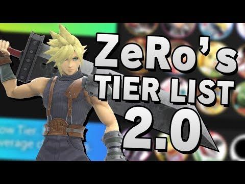 ZeRo's Super Smash Bros. Ultimate 2.00 TIER LIST & ANALYSIS - Part 3