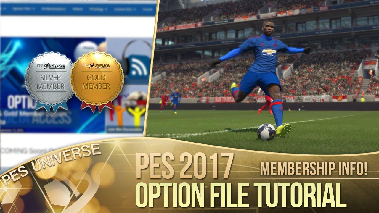 [TTB] PES 2017 - Option File Tutorial - PES Universe Membership Bonuses!