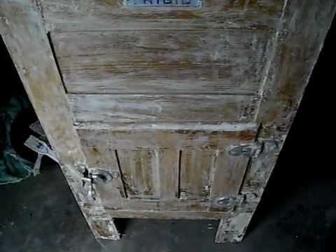 Vintage Ice Box Restoration Project Youtube
