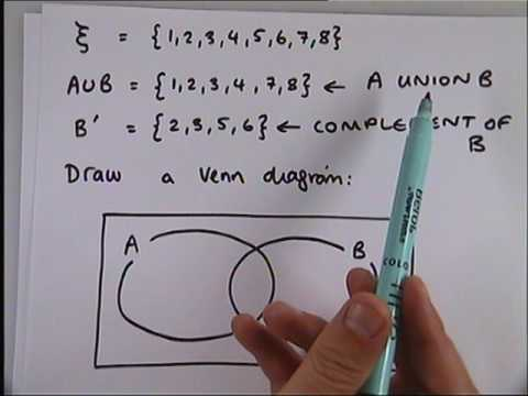 How To Use Set Notation For Venn Diagrams Youtube