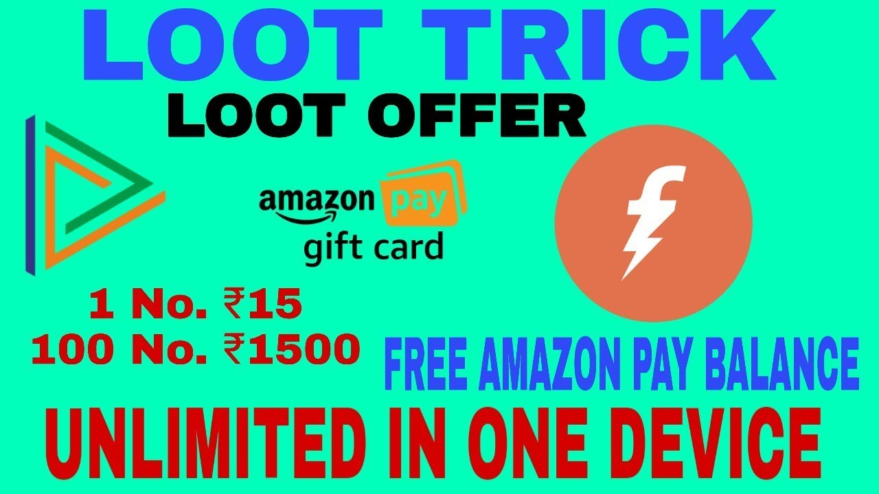 19 MB] Unlimited Amazon pay balance !! In one Device !!Bharatpe