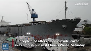 10 die from cargo ship gas leak in east China's Weihai