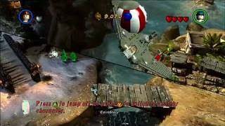 LEGO Indiana Jones 2: The Adventure Continues PlayStation 3 Gameplay - Hub Exploration