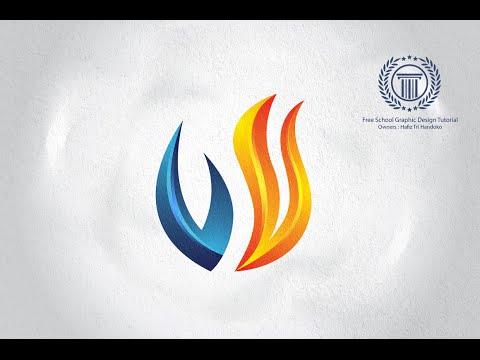 Create 3D Flame Fire Logo Design In Adobe Illustrator CS6 - Tutorial Illustrator For Beginners