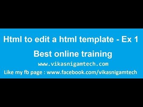 How To Edit Html Templates | Website Development