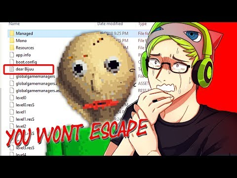 BALDI SENT ME A MESSAGE IN THE FILES! | Baldi's Basics In Ed