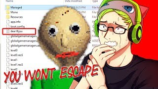 BALDI SENT ME A MESSAGE IN THE FILES! | Baldi's Basics In Education and Learning