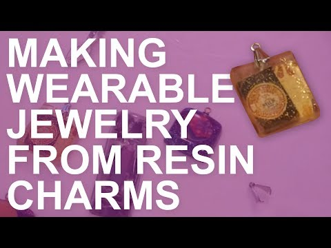 How to Make Resin Charms into Wearable Pendants