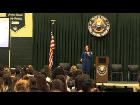 Astronaut Jessica Meir visits New Bedford, MA
