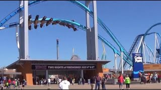 Cedar Point Full Tour Complete Park Walk Through Part 1 of 2