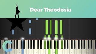 Hamilton - Dear Theodosia Piano Tutorial