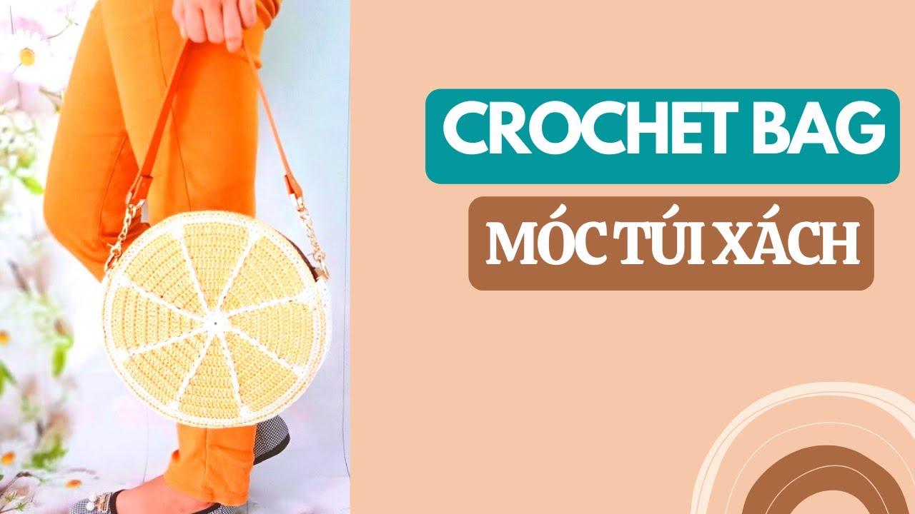 Hướng dẫn móc túi xách tròn họa tiết trái cam | Crochet bag | Bluesky Handmade