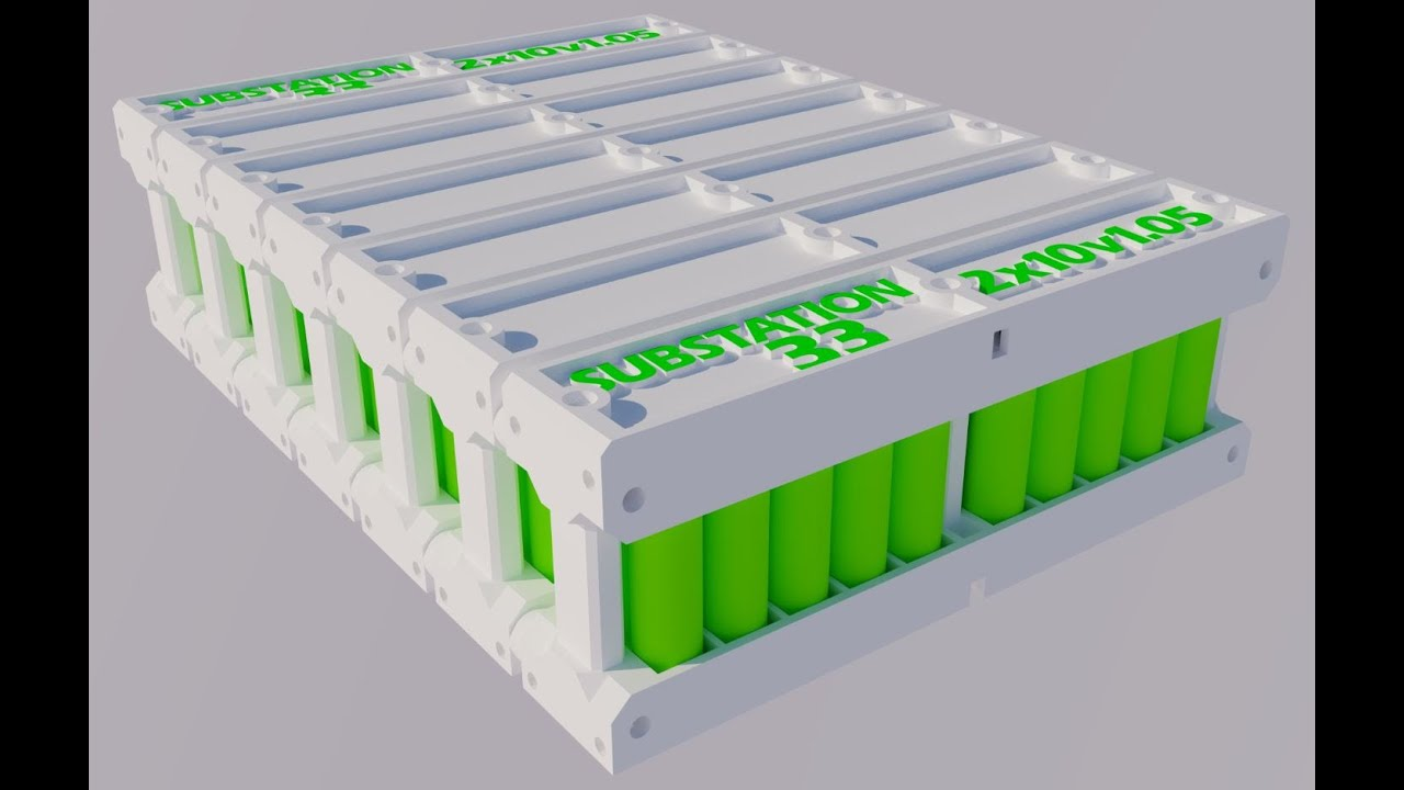 3D printed Solar PV or EV 18650 modular pack from recycled ...