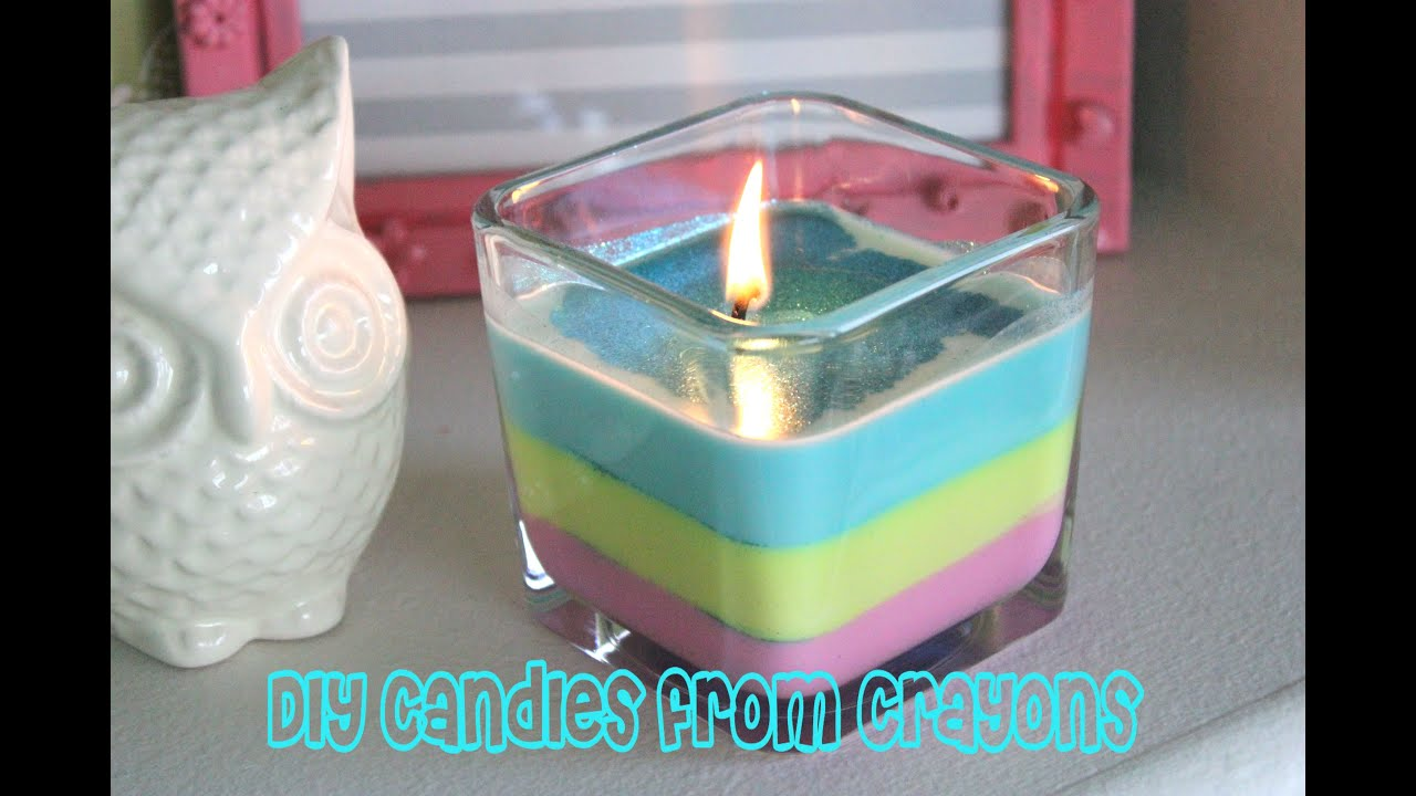 How to Make Sparkly Spring Candles from Crayons - YouTube