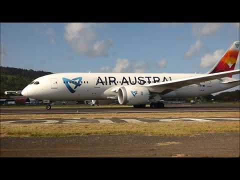 Air Austral landing end take off Mayotte airport