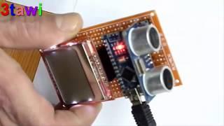 lcd 5110 ultrasonic sensor project