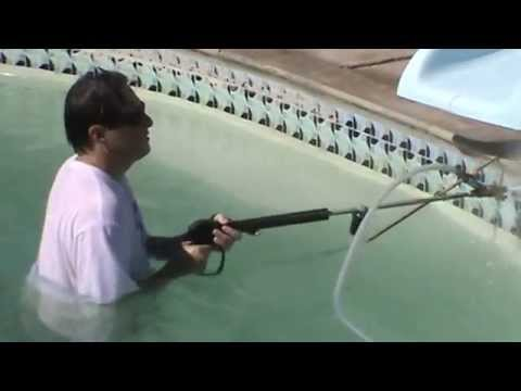 instruction 22 pool tile cleaning demo 1 mr hard water pool tile cleaning blast kits