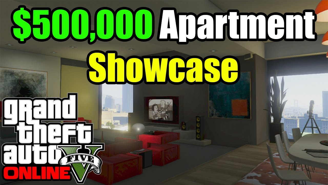 Gta 5 online new high life dlc 500k apartment showcase for Designer apartment gta 5