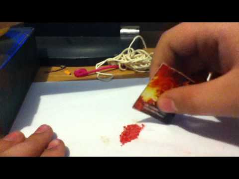 How to make GunPowder out of matches.