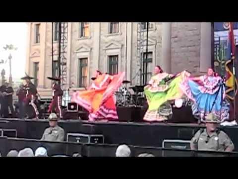 Ballet Folklorico Arizona: La Negra (Fast) in Phoenix, AZ for Arizona's Centennial Celebration