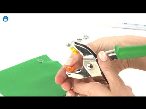 How to use Dritz Snap Fastener Pliers