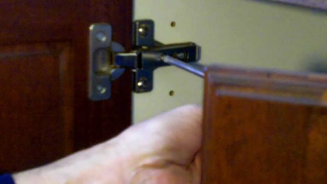cabinet hinge adjustments   european cabinet hinges   youtube  rh   youtube com