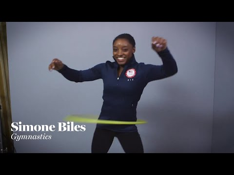 Simone Biles & Other Olympians Attempt to Hula Hoop | Glamour