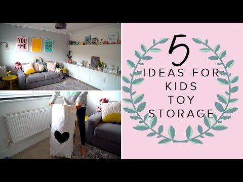 5 IDEAS FOR KIDS TOY STORAGE & ORGANISATION