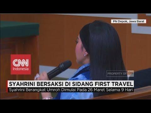 Kesaksian Syahrini dalam Sidang Penipuan First Travel