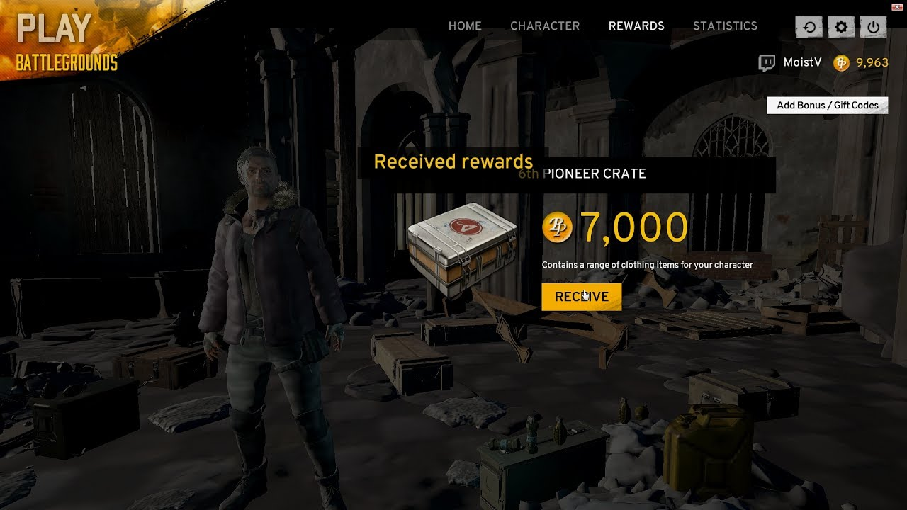 OPENING ALL PIONEER CRATES (21,700 rp) - PLAYERUNKNOWN'S ...