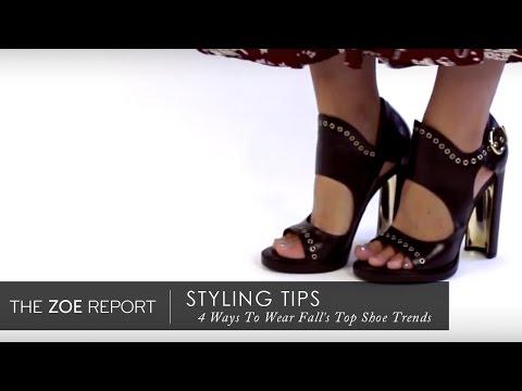 4 Ways To Wear Fall's Top Shoe Trends | The Zoe Report by Rachel Zoe