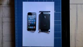 Como hacer un celular de papel (I Phone 5)