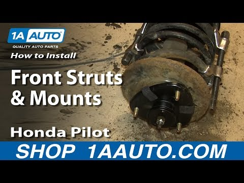 How to Replace Front Strut Assembly 03-08 Honda Pilot - YouTube