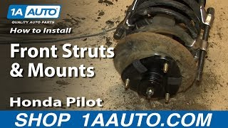 How To Install Front Struts and Mounts 2003-08 Honda Pilot Acura MDX