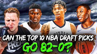 Could the Top 10 Picks from the 2019 NBA Draft Go 82-0?