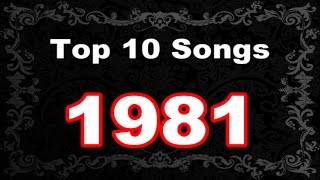 Top 10 Songs 1981 UK Charts Video