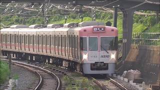 京王井の頭線 1000系1703F編成リニューアル車 久我山駅到着・発車