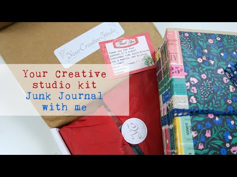 Unboxing 'Your Creative Studio' Vintage Stationery Box // Junk Journal With Me #9